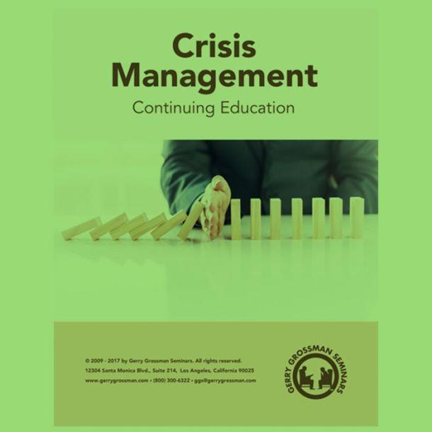 Crisis Management Online Text-based Home Course (7 CE)