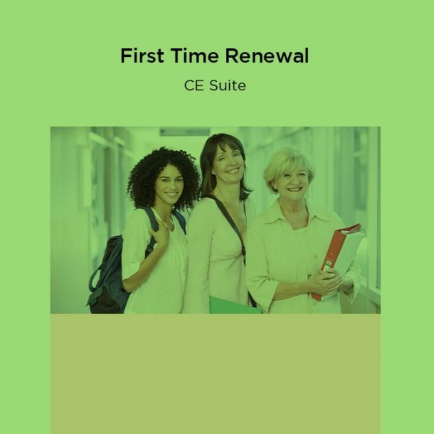 23-Hour First Time Renewal CE Suite Text-based Course (23 CE)