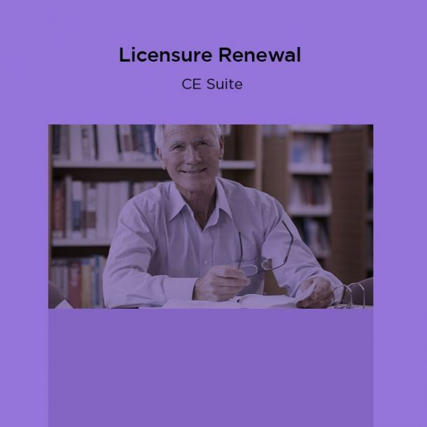 18-Hour Licensure Renewal CE Suite Text-based Course (18 CE)